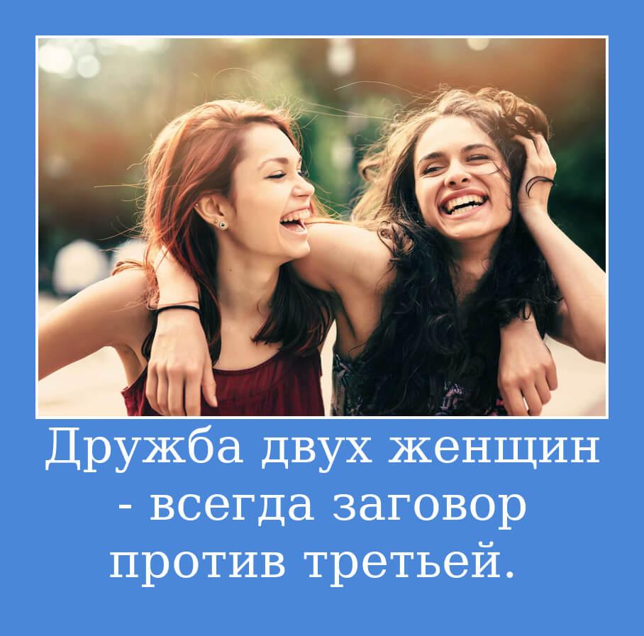 На фото изображено высказывание о женской дружбе.