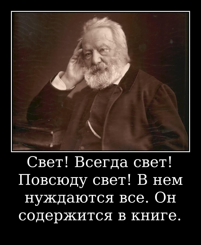 На фото изображена цитата Виктора Гюго.