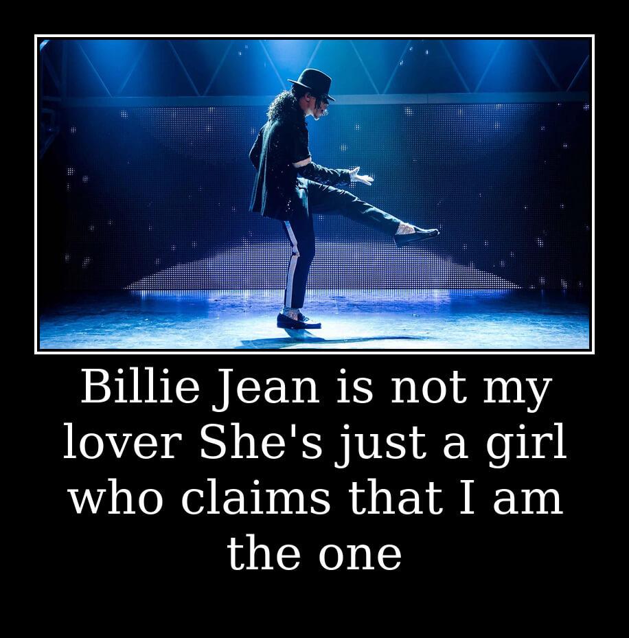 На фото изображен текст песни Michael Jackson.