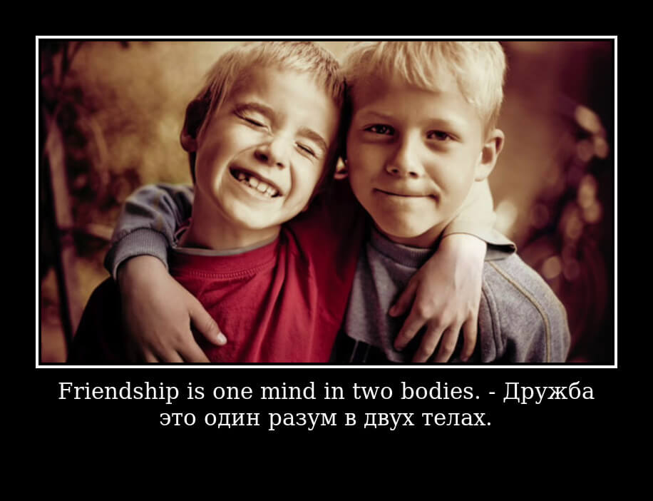 Friendship is one mind in two bodies.