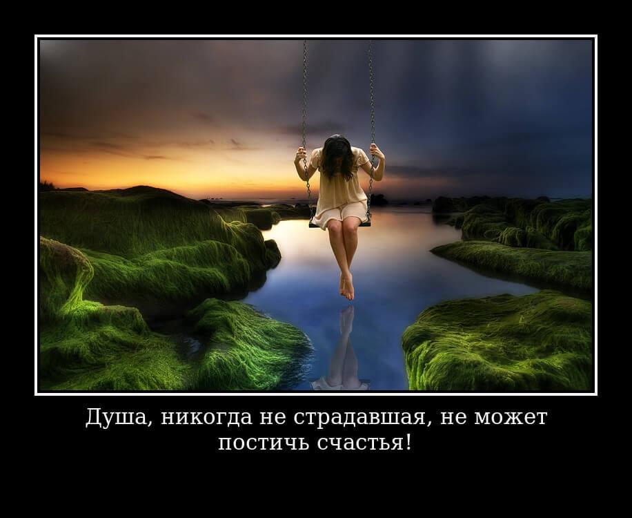 Душа, никогда не страдавшая, не может постичь счастья!
