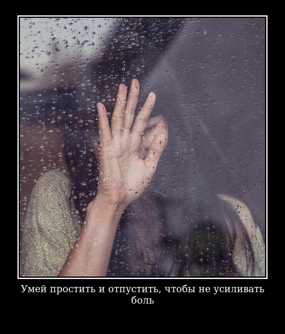 Умей простить и отпустить, чтобы не усиливать боль…
