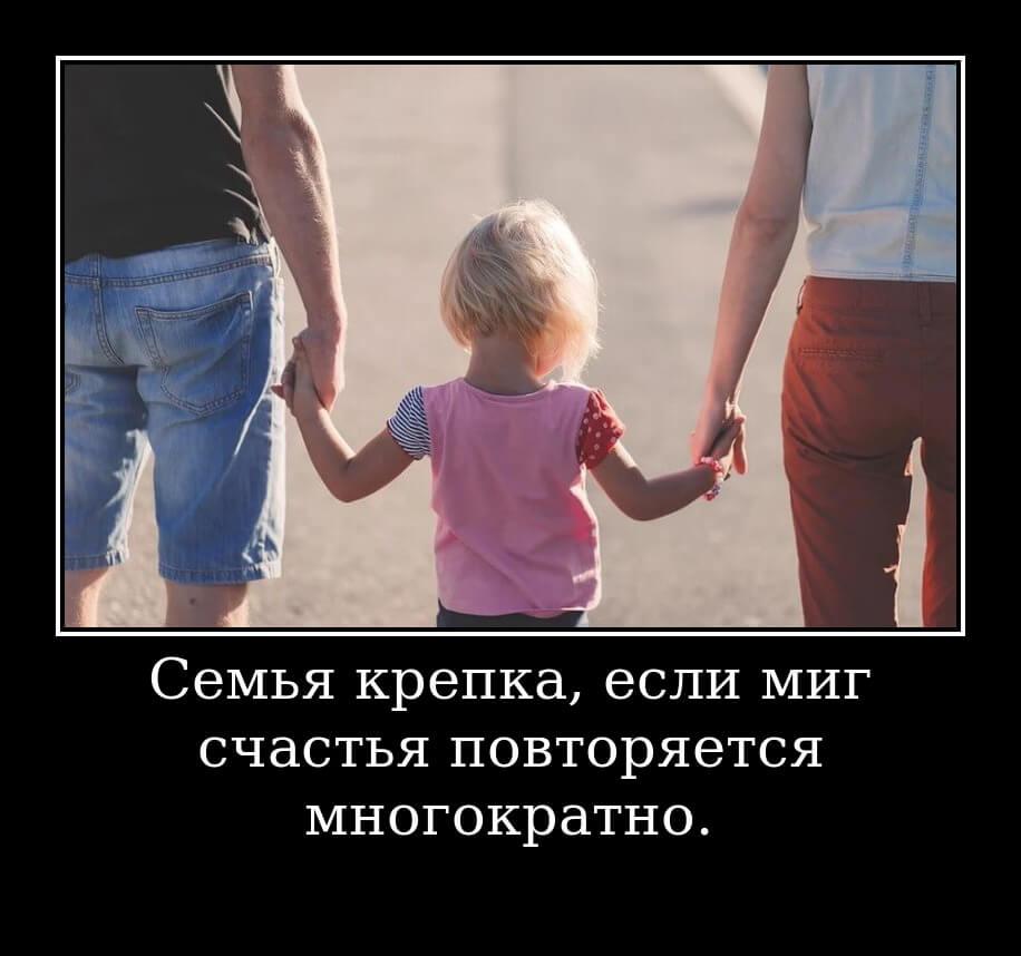 Семья крепка, если миг счастья повторяется многократно.