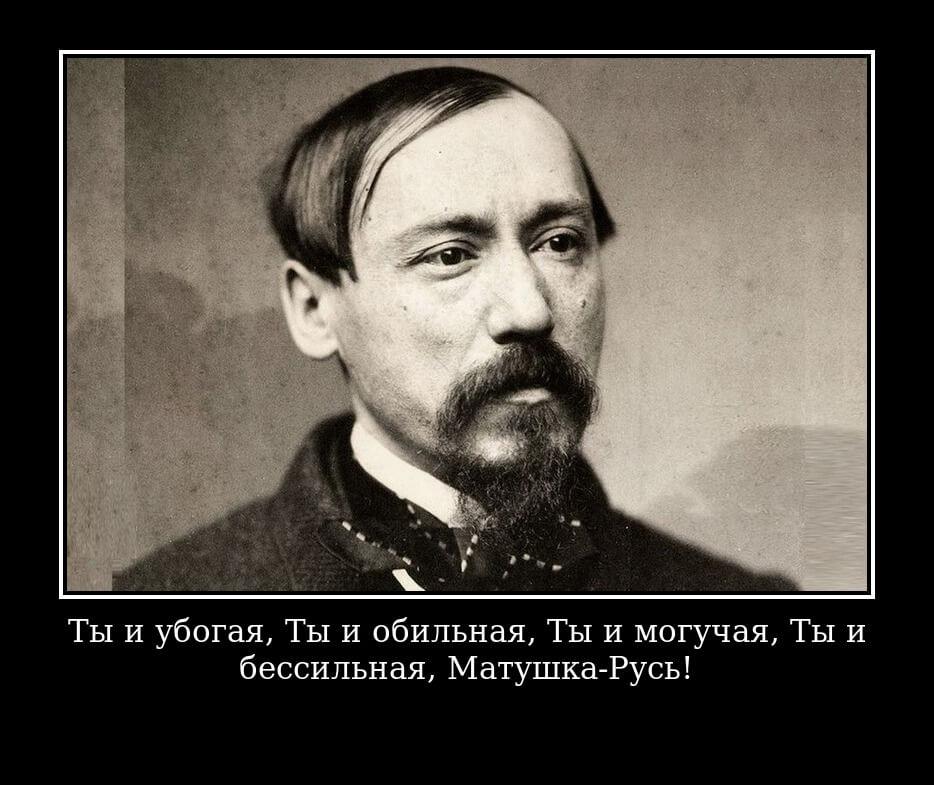 На фото изображена цитата из поэмы Некрасова.
