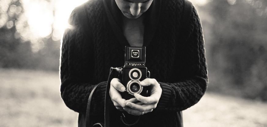 Черно-белая фотография.