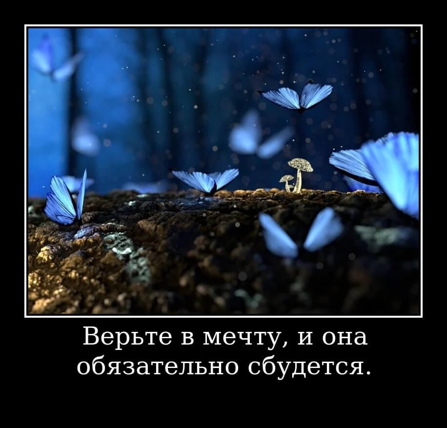 Верьте в мечту, и она обязательно сбудется.