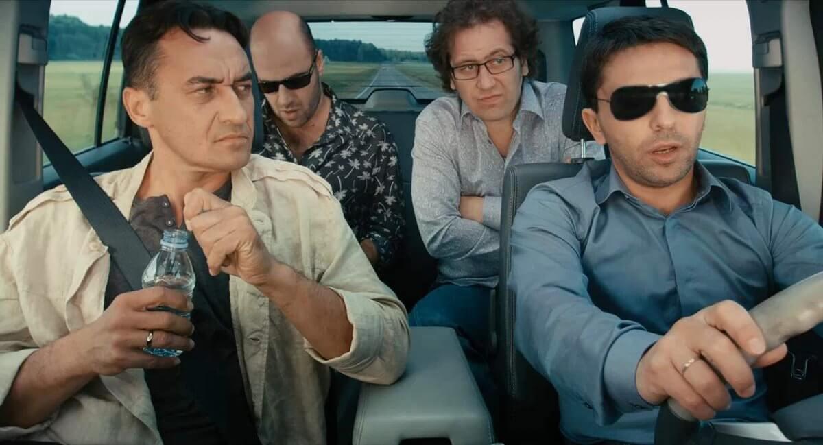 """На фото герои фильма: """"О чем говорят мужчины""""."""