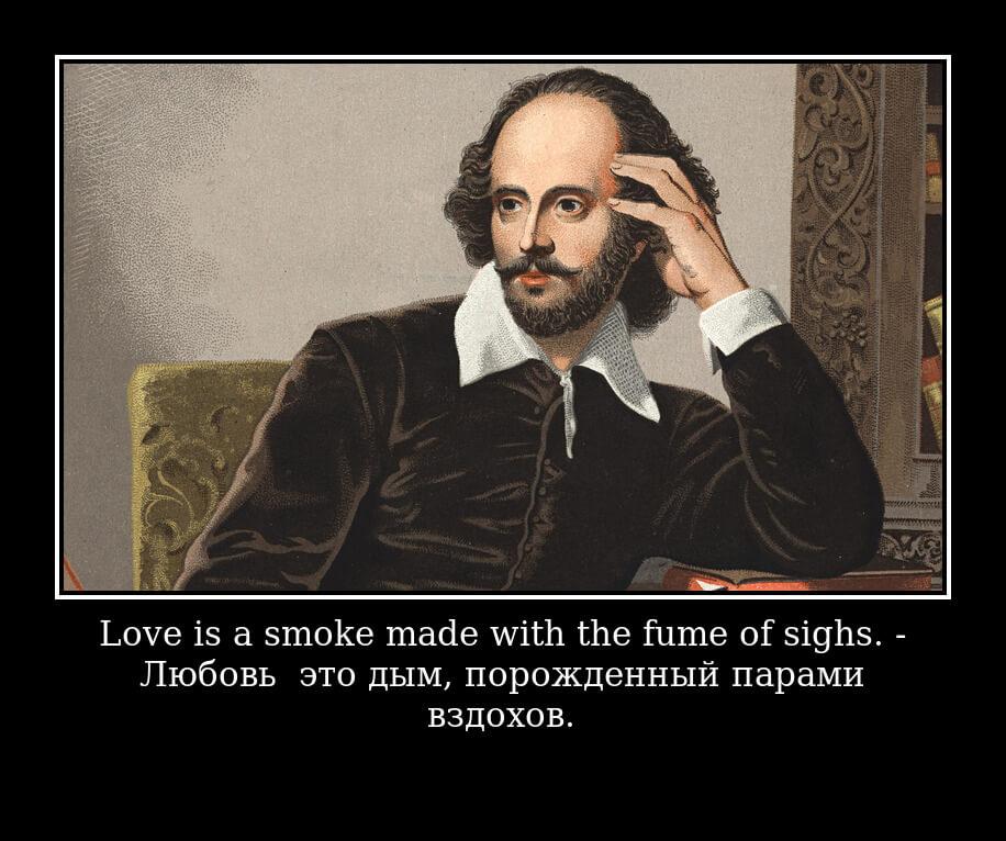 На фото изображена цитата Вильяма Шекспира.