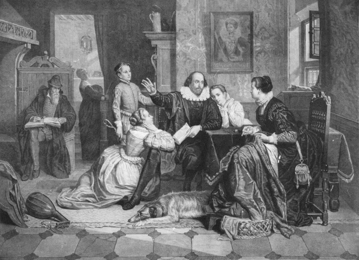 На фото изображен Вильям Шекспир.