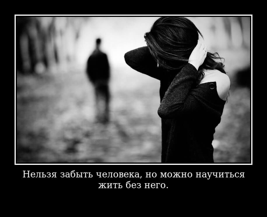 Нельзя забыть человека, но можно научиться жить без него.