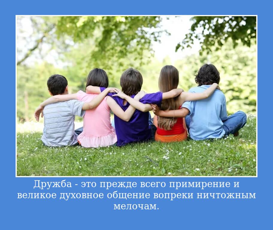 Дружба — это прежде всего примирение и великое духовное общение вопреки ничтожным мелочам.