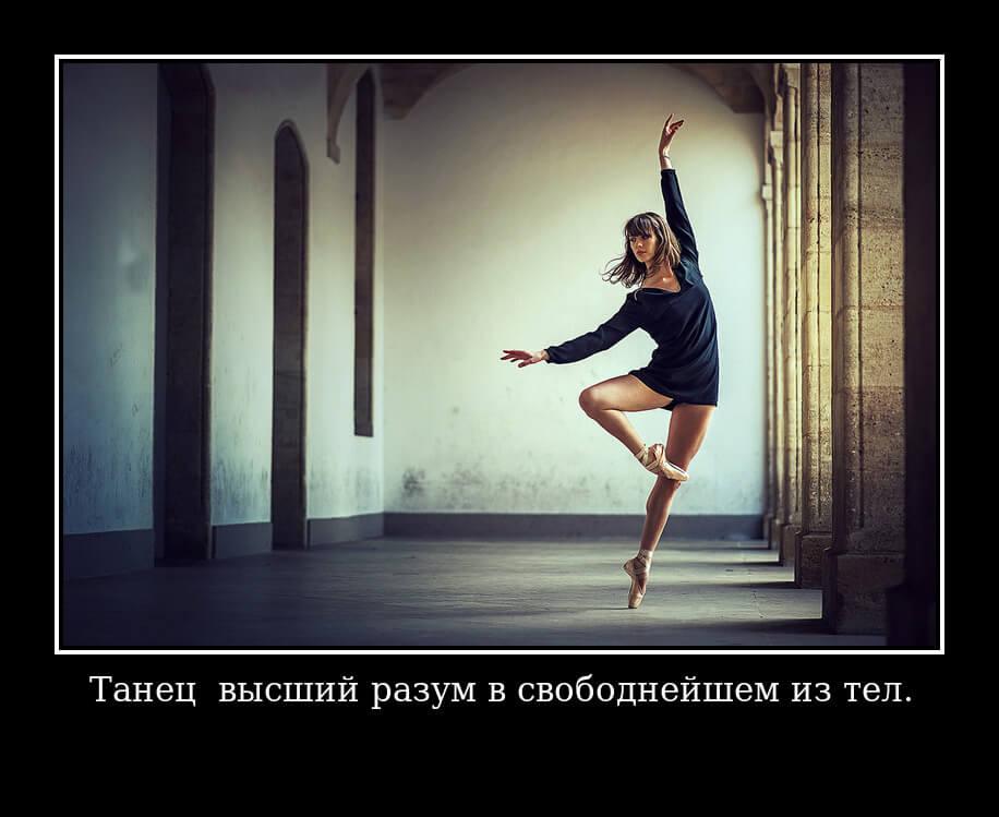 Танец — высший разум в свободнейшем из тел.