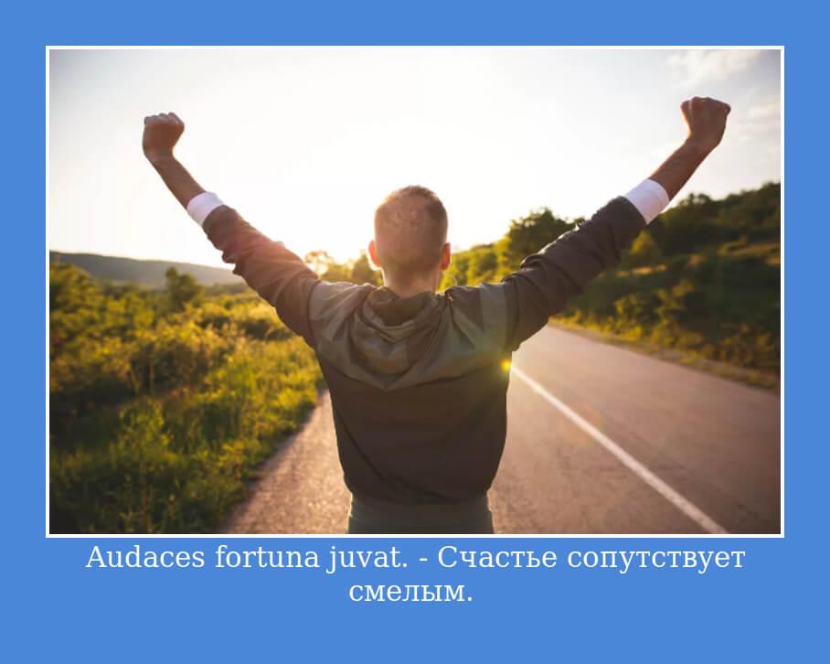 Audaces fortuna juvat — Счастье сопутствует смелым.
