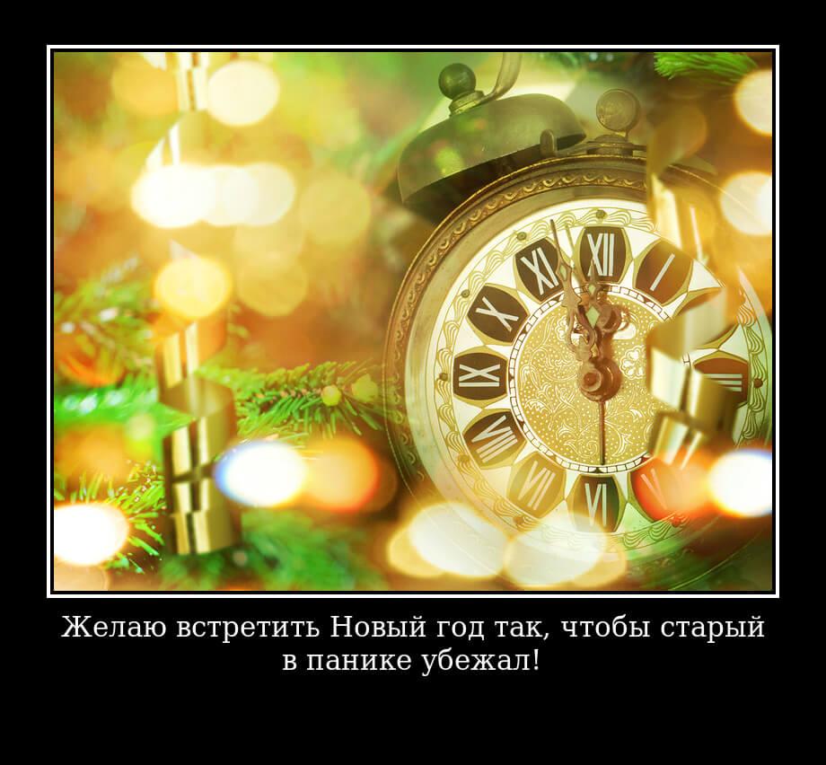 Желаю встретить Новый год так, чтобы старый в панике убежал!
