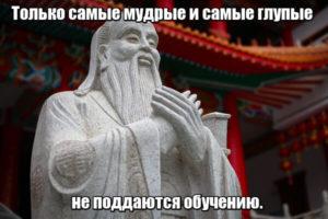 Только самые мудрые и самые глупые не поддаются обучению.