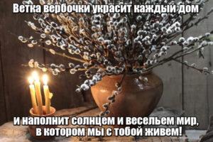 Ветка вербочки украсит каждый дом и наполнит солнцем и весельем мир,в котором мы с тобой живем.