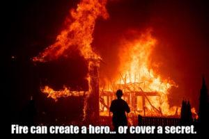 Fire can create a hero... or cover a secret. - Пожар может создать героя... или спрятать секрет. Обратная тяга / Огненный вихрь.