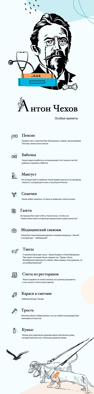 Инфографика - Антон Павлович Чехов.
