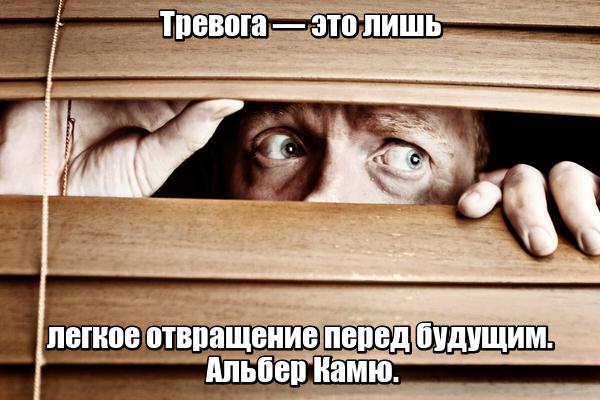 Тревога — это лишь легкое отвращение перед будущим. Альбер Камю.